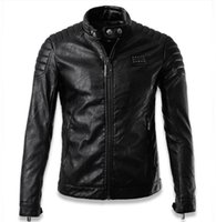 Wholesale Fall Chaquetas De Cuero Hombre Luxury Skull mens pilot leather jackets jaqueta de couro men biker jacket brand clothing man XXXL