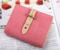 belt can holder - Taobao hot Korean belt buckle Wallet Color short fashion Nubuck wallet Neutral men and women can wallet cross spot Japan and Korean Style