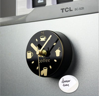 Wholesale 3 quot Small Modern Home Decorative Coffee Kitchen Magnetic Clock Creative Magnet Refrigerator Watch Reloj de Pared