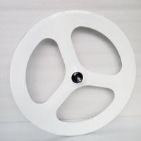 Wholesale Colorful White spoke wheel carbon C fixed gear wheels Tri Spoke Wheels Clincher china bicycle Wheels OEM service