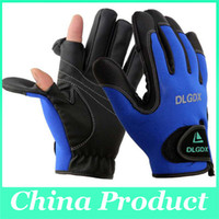 Wholesale DLGDX Fishing Gloves High Quality Anti Slip Outdoor Sports Slip Resistant Cycling Bicycle Motorcycle Gloves Folding Fingers Gloves