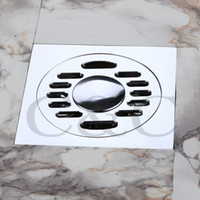 Wholesale Bathroom Balcony Copper Deodorant Square Floor Drain Strainer Cover Sink Grate Waste Washing Machine