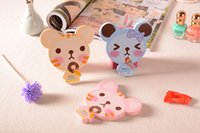 Wholesale Teddy Bear makeup mirror carry small tools necessary to work shopping the folding mirror portable mirror