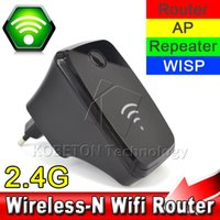 Wholesale Wireless N router WIFI Router Repeater n g b Mbps Tavel Dual RJ45 LAN Port Portable Network Range Boosters Amplifier