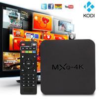 Wholesale 2016 Newarrival Quad core android TV Box MXQ K Rk3229 RAM GB ROM GB KODI Mini Pc Instock Shipping Via DHL