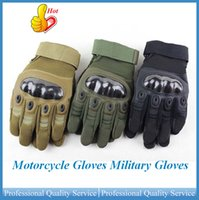 Wholesale Motorcycle Gloves Military Gloves Tactical Full Finger Army Gear Sport Shooting Paintball Hunting Riding Motorcycle OUT0571 DHL free