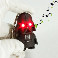 Wholesale Star Wars Black Knight Darth Vader Stormtrooper LED Light With Sound PVC Action Figures Toy Children Kids Gifts Anakin Skywalker