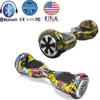 Wholesale Stock In US Inch Bluetooth Smart Balance Wheel Hoverboard Electric Skateboard Drift Self Standing Scooter Hip Hop camouflage Style