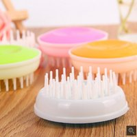 Wholesale Scrub brush head massage brush shampoo shampoo gripper head massager brain Massage claws color random
