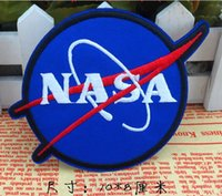 aviation accessories - Blue NASA LOGO Badge patch sticker iron on patches Aviation clothes patch coat accessory Badge red white embroider Appliques
