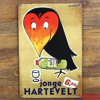Wholesale JONGE HARTEVELT Tin Sign Bar pub home Wall Decor Retro Metal Art Poster