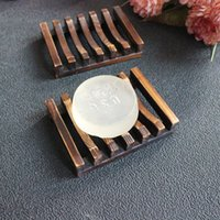 bathroom accessory wood - x8x2 cm Retro Vintage Wood Soap Box Bathroom Wooden Soap Dish Holder kitchen Accessories