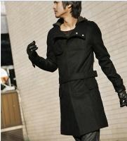 Wholesale Fashion Style Pure Color With The Belt Coat
