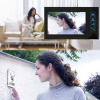 Wholesale Home Security quot Inch TFT Touch Screen LCD Color Video Door Phone Doorbell Intercom system IR Night Vision Eye Camera Doorphone