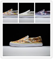 anti static shoes - 1 quality Low Vault by Takashi Murakami print flowers canvas shoes
