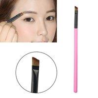 angled eyebrow pencil - 1PC Professional Oblique Eye Brow Eyeshadow Blending Pencil Brush Make up tool Cosmetic Smooth Angled Eyebrow Brush