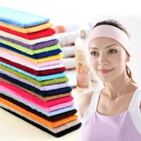 Wholesale 2016 Fashion Women Men Sports Headband Hairband Stretchy Sweatbands Yoga Gym Hair Head Band For Ladies Gift H210665