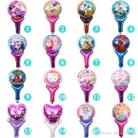 Wholesale 17 style Handheld magic wand happy birthday cartoon children s toys Christmas party Balloons decoration aluminum balloons self sealing