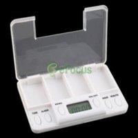 Wholesale Portable Digital Pill Tablet Box Alarm Modes medicine box medicine pill medicine pill