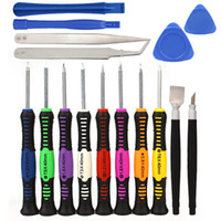 Wholesale 10sets in Mobile Phone Cellphone Opening Repair Tools Screwdrivers Set Kit Precision For IPhone Samsung HTC Tablet Hand Tools