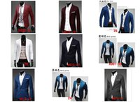 Wholesale Spring and Autumn new men cultivating a buckle collar design casual suit coat jacket multicolor