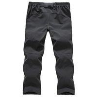 Wholesale Spring Rain Outdoor Soft Shell Fleece Trousers Men Warm Windproof Climbing Hiking Fishing Pants Pants