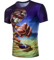 abstract tshirts - Personality big buck teeth abstract D cartoon characters printed short sleeved T shirt men high quality t shirts for men fashion tshirts