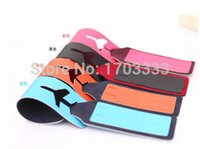 Wholesale 120pcs Colorful PU Travel Tag Luggage Tag Bag Tag Novelty Luggage Identifier Airplane Tag Best gift FK576