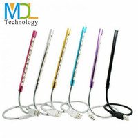 Wholesale USB light lamp Ultra Bright Portable led Flexible LED Desk Light Torch Flashlight For PC Notebook Laptop Computer Keyboard Reading Lamp