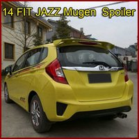 Wholesale High Quality Rear Car Spoiler For Honda FIT JAZZ Mugen TYPE Spoiler Wings ABS Car Spoiler With Factory Price In Stock