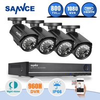 Wholesale SANNCE CH CCTV System P HDMI AHD CH CCTV DVR TVL IR Outdoor Security Camera Camera Surveillance System
