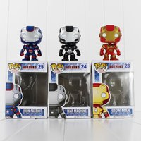 Wholesale FUNKO POP Avengers Iron Man PVC Action Figure Collection Toy Doll cm style you can choose