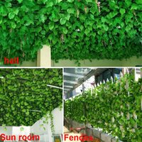 Wholesale Simulation Flower Vine Fake Rattan Leaves Wall Ceiling Decoration Artificial Flowers Artificial Plants Leaves