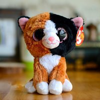 beanie boos lot - cm Ty Beanie Boos Plush Stuffed Toys Big Eyes Animals Soft Dolls for Kids Birthday Gifts