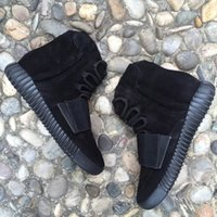 Wholesale 750 Boost Triple Black Shoes Kanye West Boost Running Shoes with Original Box Hottest Sneakers Womens and Mens Basketball Shoes