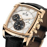Wholesale Cheap White Gold Watches - Super Clone Brand Watch New Fleurier KALPA Grande PF005162.01 Gent Watch Quartz Chronograph Rose Gold White Dial Cheap Watches Ref. PF005201
