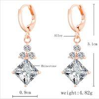 animal gemstones - 2016 New US GIA certificate ct earrings for women Emulational Diamond earring wedding earring Lovers Gift Gemstone earrings