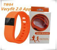app orange - TW64 Bluetooth Veryfit App Smart Bracelet Bluetooth Smart Wristbands smart watch Waterproof Passometer Sleep Tracker Functio