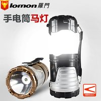 american battery charging - Hot Sale Portable Lantern LED American Soldier Flashlight Factory Directly Outdoor Charging Solar Camping Lamp
