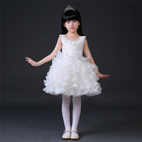 Wholesale The New Wedding Dresses Noble Children Dress Cute Princess Skirt Flower Girl Bubble Skirt For The Show In Export Hot Selling