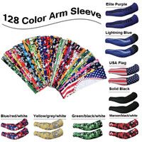 arm cycles - 2016 new customized Camo Compression Sports Arm Sleeves Moisture Wicking softball baseball cycling color free DHL