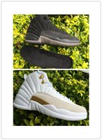 Wholesale new air retro ovo hot sale mens basketball shoes online XII s sneakers white black for boy good quality