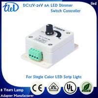 Wholesale DC12V V A Single Color LED Dimmer Switch Controller For SMD Single Color LED Strip Light
