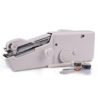 Wholesale New Fashion Mini Home Travel Desk Portable Sew Quick Hand held Stitch Clothes Sewing Machine