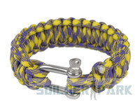 Wholesale Parachute Survival Emergency Strap Bracelet cm Black Orange Camo Light Blue Purple Yellow Camo order lt no track