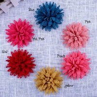 Wholesale 18PCS The new high quality handmade Multilayer hollow out cloth color cm Diy children hair accessories