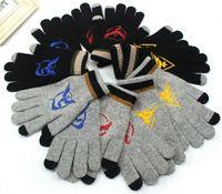 Wholesale Poke Team Valor Mystic Instinct adult Five Fingers Gloves Pocket Monster Capacitive Touch Screen Gloves Poke Go Knitted gloves