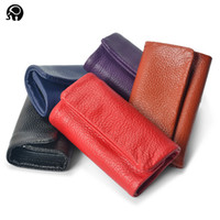 Wholesale Leather Key Case Wallets Key Holder Wallet Coin Purse Hasp Open Interior Key Chain For Women Fashion Gift Red Blue Black Brwon Purple A072