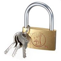Wholesale Excellent Quality Brass Padlock Long Shackle Travel Luggage Suitcase Gate Lock Security Keys Durable