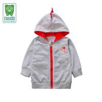2016 Automne hiver bébé vêtements nouveau-né 100% polyester éponge garçons vestes vestes bébés avec doublure de capot